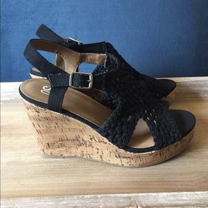Black Wedge Heels 8.5